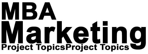 mba marketing project topics