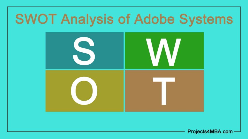 swot analysis of adobe systems